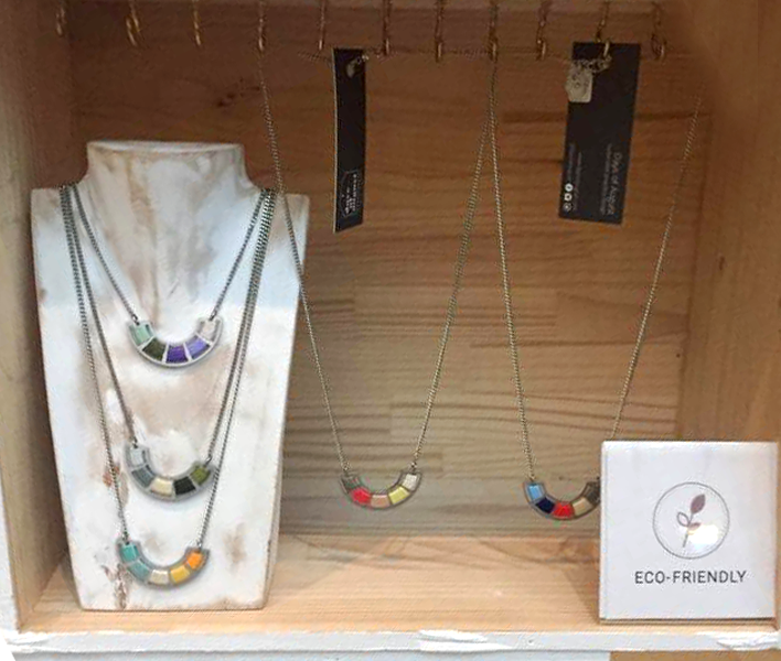 Sustainable long colourful necklaces from Artisella