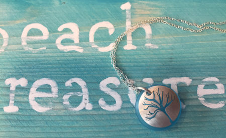 sea glass necklace pei blue colour