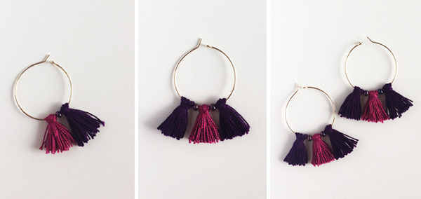 Diy Hoop Plus Tassel Earrings For Uncreatives Bauble Stories