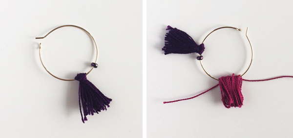 making multiple tassels for diy earrings