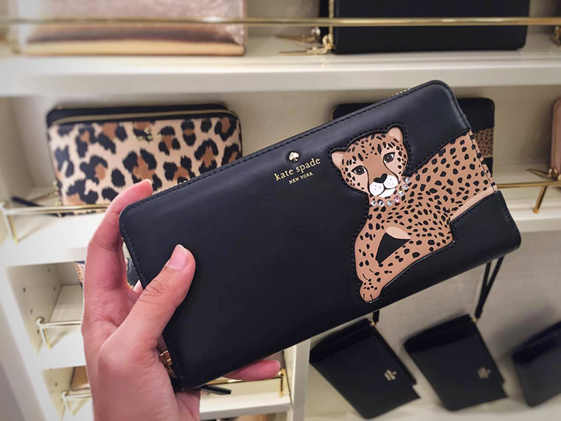Cheetah face black wallet Kate Spade - leopard leopard leopard collection