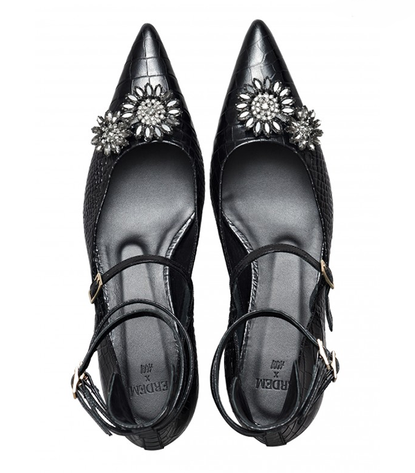 Erdem x H&M black pointed heels
