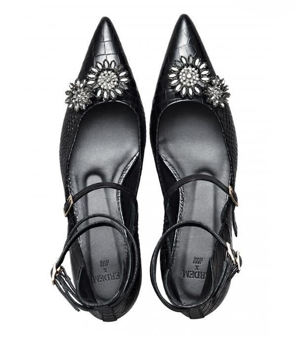 Erdem x H&M black pointed heels
