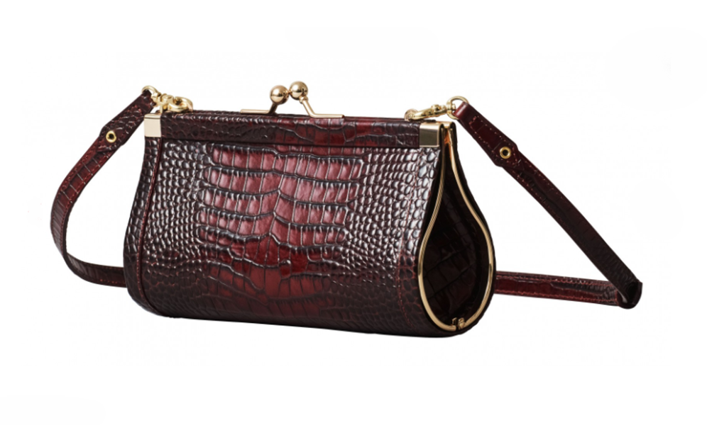 Erdem x H&M burgundy leather purse