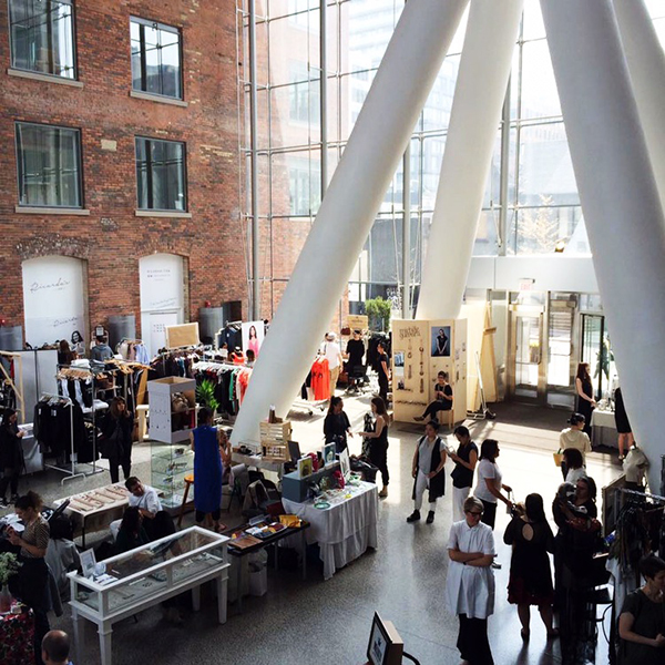 Inland Toronto Canadian fashion designers display