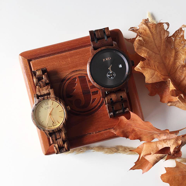 Jord wood watches handmade grain finish
