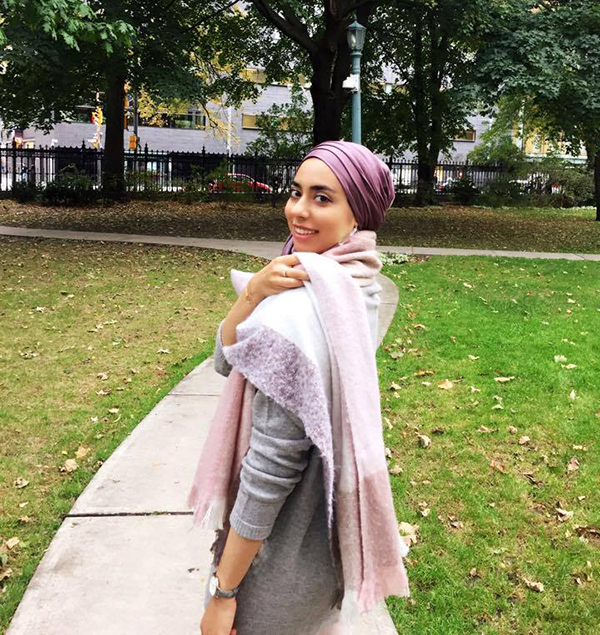 Pink purple blanket scarf makes for essential fall accessories