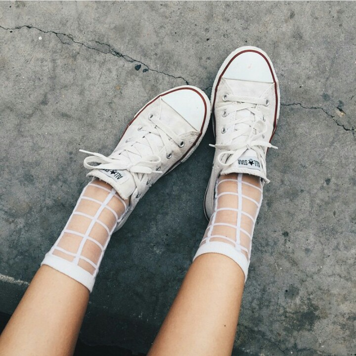 Sheer socks with converse 2018 trends