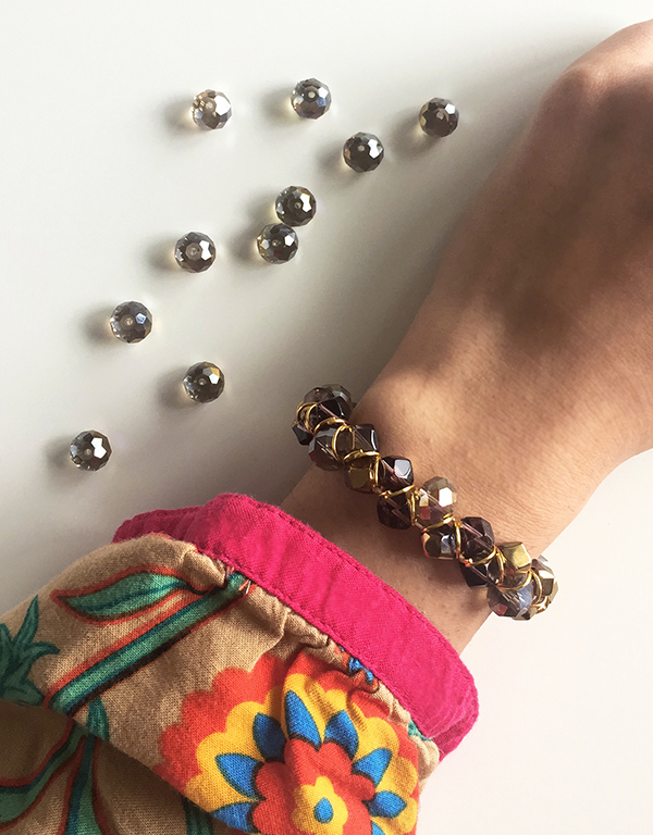 How to DIY a dazzling beaded bracelet completed