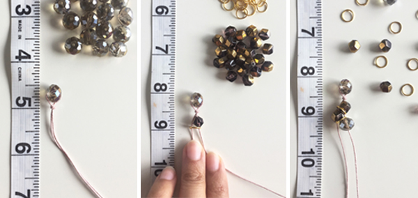 How to DIY a dazzling beaded bracelet - step 1