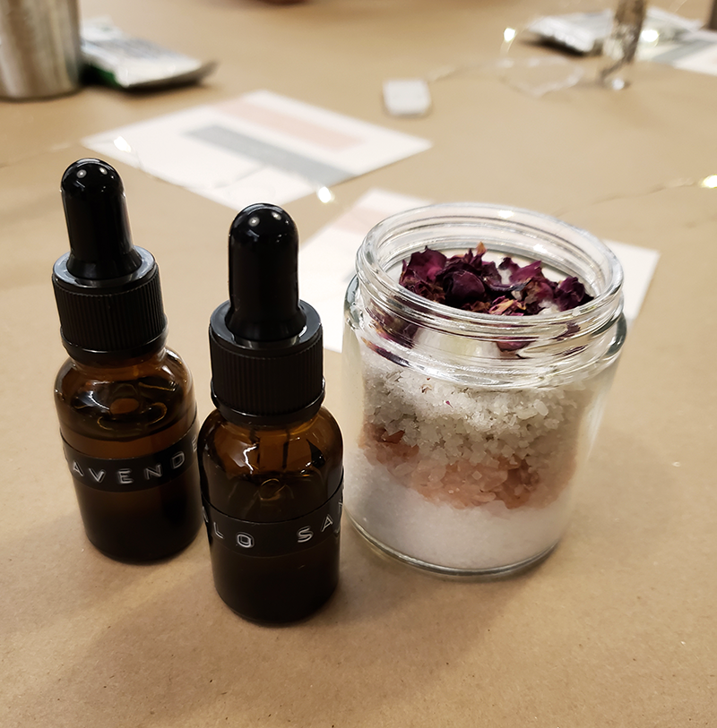 Creating Meaningful Connections While Making Bath Salt Jars Her People