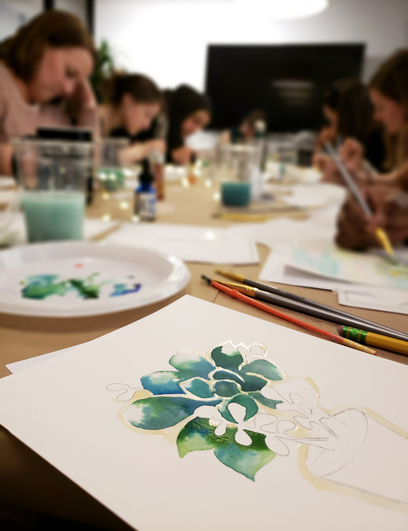 Meaning Connections Over Watercolouring Workshop Toronto By Her People