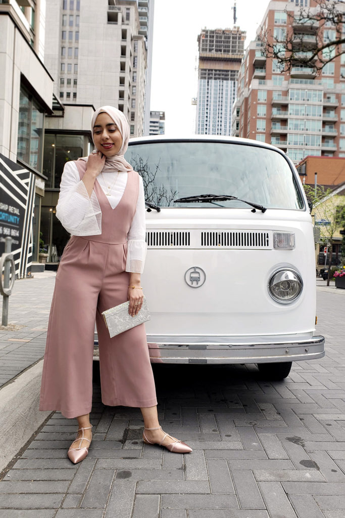 Pink Eid Jumpsuit with Volkswagon van