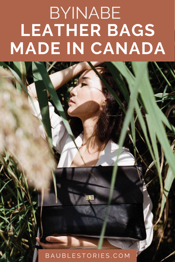 Byinabe leather bags made in canada