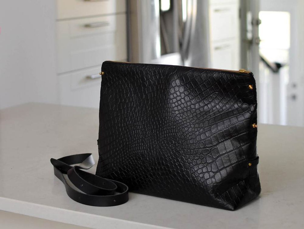 black pebbled leather bags made in canada