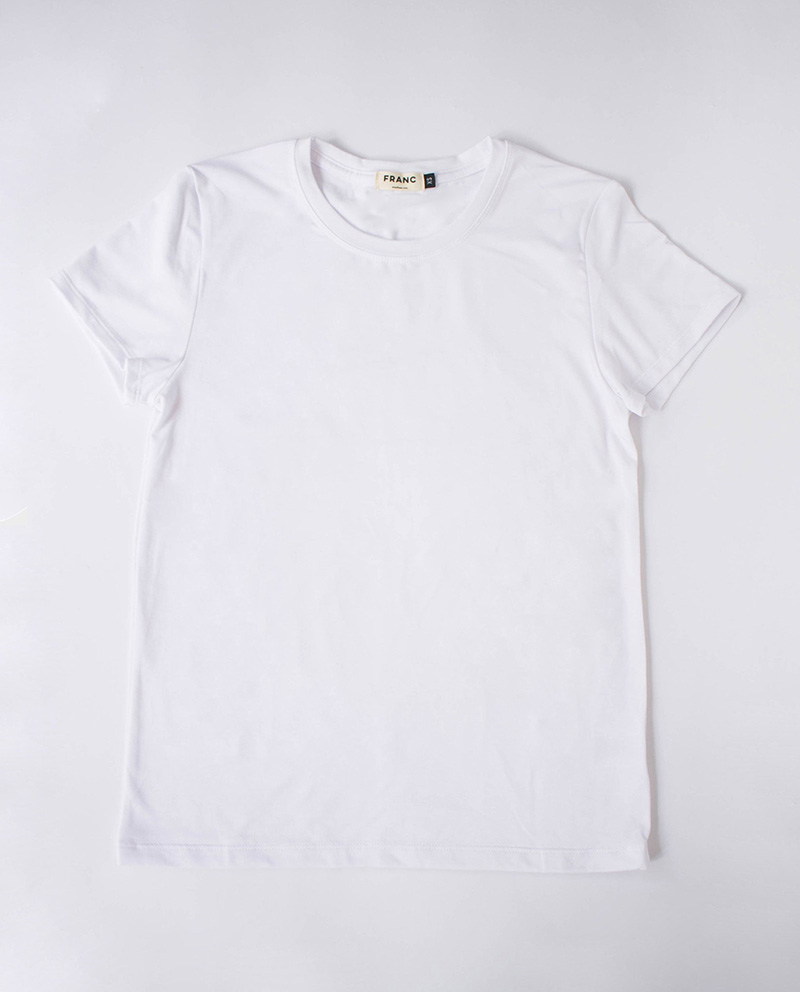 Franc Ethically Made Canadian White T-Shirts