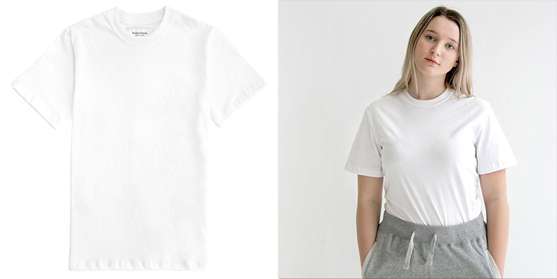 Province of Canada Ethically Made Canadian White T-Shirts
